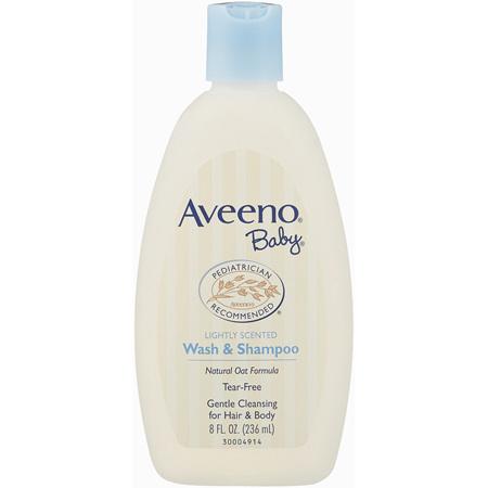 Aveeno Baby Wash & Shampoo Lightly Scented 236mL