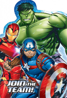 Avengers Postcard Invites x 8
