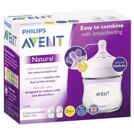 AVENT FEEDING BOTTLE 125ML TWIN PK