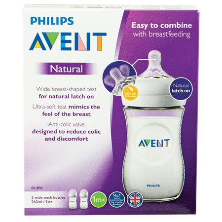 AVENT FEEDING BOTTLE  260ML TWIN PK