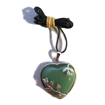 PS33 Aventurine Heart Pendant