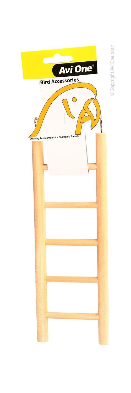 Avi One Bird Wooden Ladder - 5 Rung