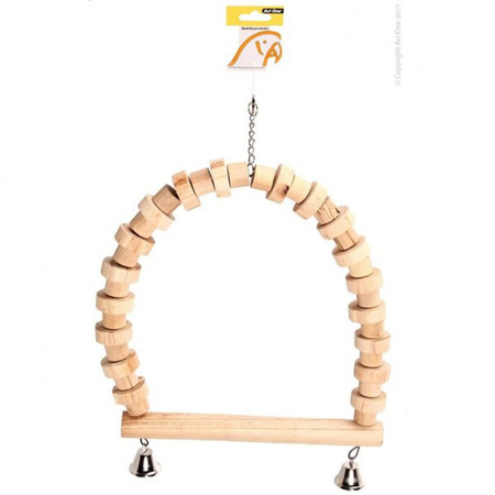 Avi One Parrot Wooden Swing with Bells