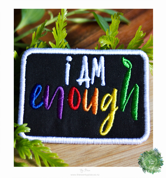 Awareness Patch, I am Enough, Mental Health, Chronic Illnesses, The Wonky Pixie