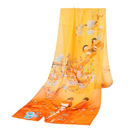 AWESOME BIRD SCARF - GOLDEN YELLOW