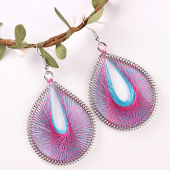 AWESOME DOUBLE TONE WEAVE EARRINGS