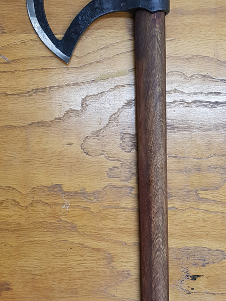 Axe 2 - Battle Axe with Hand Forged Crescent Head