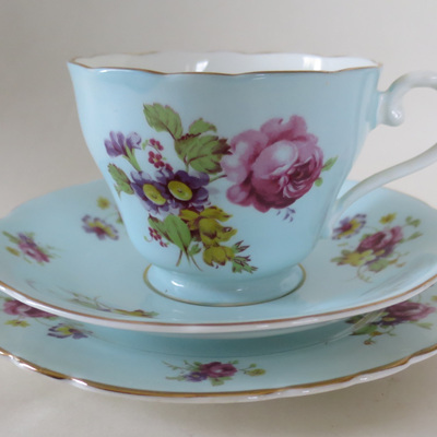 Tea cup saucer and plate