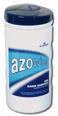 Azo Wipes 200 x Isopropyl 70% Alcohol Wipes