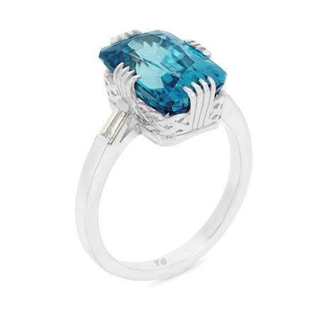 Azure: Blue Zircon Ring