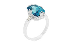 Azure: Blue Zircon Ring