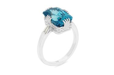 Azure Blue Zircon Ring