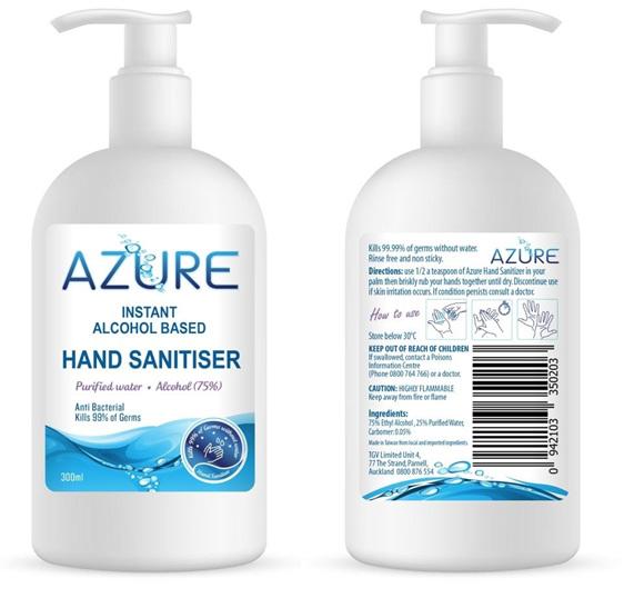 Azure Hand Sanitiser 60ML