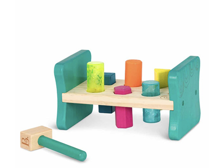 B. Toys Colourful Pound & Play Wooden Hammer Shape Sorter
