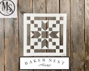 B005 Baker Nest Stepping Stones Barn Quilt Stencil
