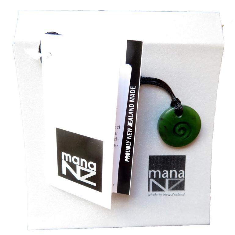 B122 Round Toki with Koru in envelope gift packaging