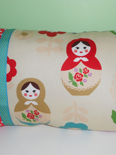 Babushka Dolls Cushion with Feather Inner