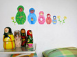 Babushka dolls wall decal