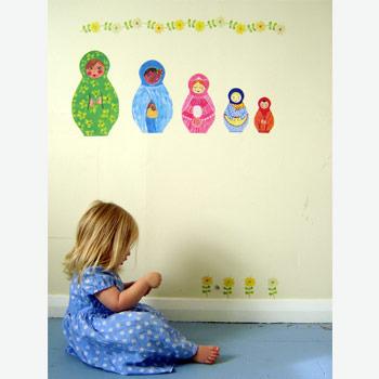 Babushka dolls wall decal
