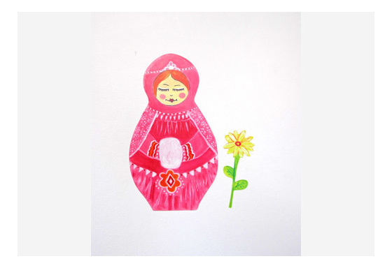 Babushka Wall Decal