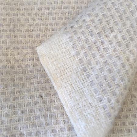 Baby Blanket - Merino + Mohair (Silver)