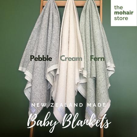 Baby Blanket - Organic Merino + Mohair (Fern)