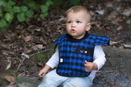 Baby Blue bush shirt Bib