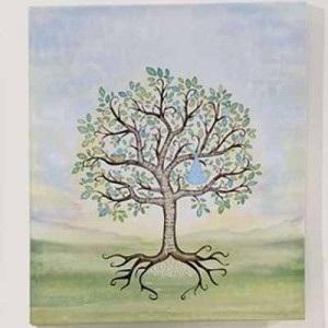 Baby Boy Signing Tree Canvas