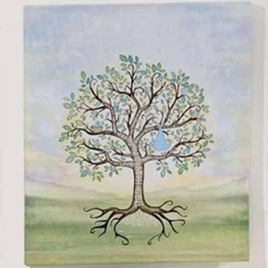 Baby Boy Signing Tree Canvas