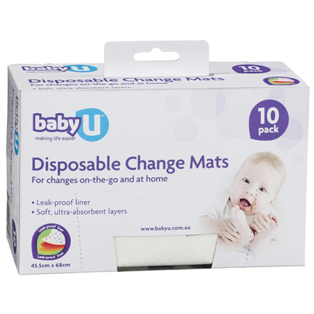 BABY DIPOSABLE CHANGE MATS 10PK