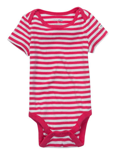 Baby Gap Pink stripe Short all in one