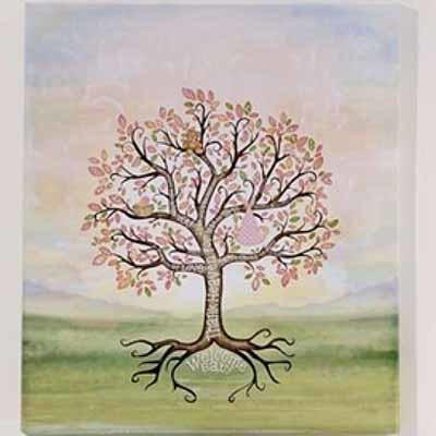Baby Girl Signing Tree Canvas