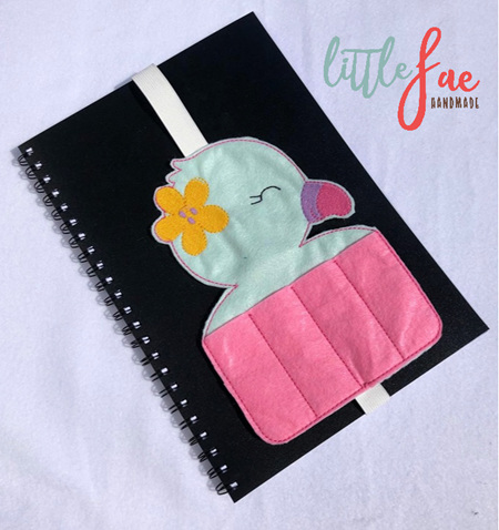Baby Green Flamingo Book Buddy