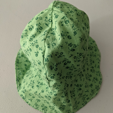 Baby Hat Green Flowers 6-18 Months