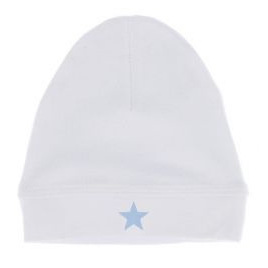 Baby Hat - White with blue star