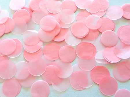 Baby pink confetti