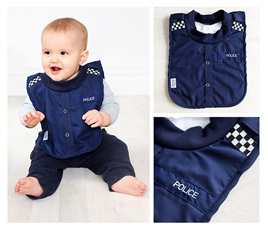 Baby Police Bib with no sleeves