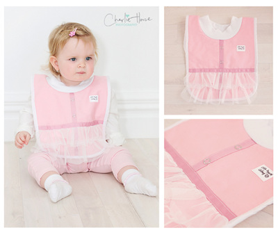 Baby Pretty in Pink Bib
