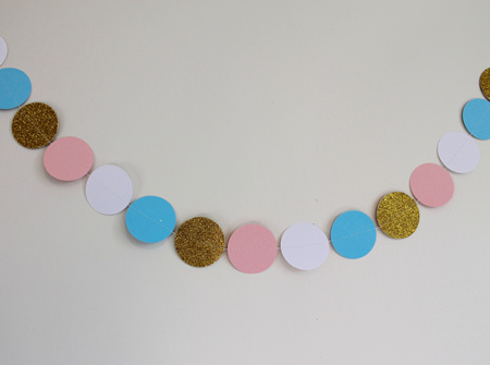 Baby Shower circle garland