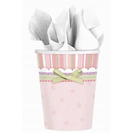Baby Shower Cups x 8 - Girl