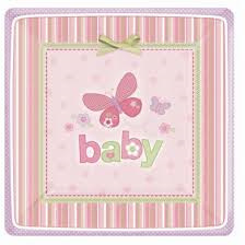 Baby Shower Plates x 8