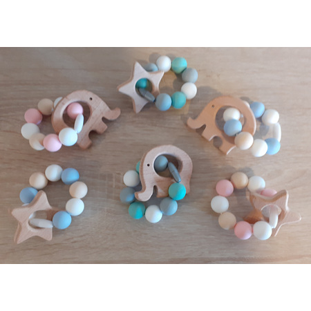 Baby -  Wood Silicone Teether