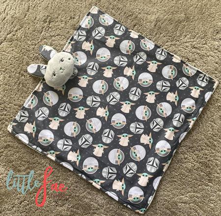 Baby Yoda Snuggle Bunny Blanket