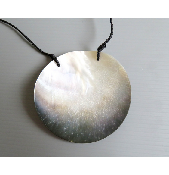 back of Mangopare mother of pearl pendant