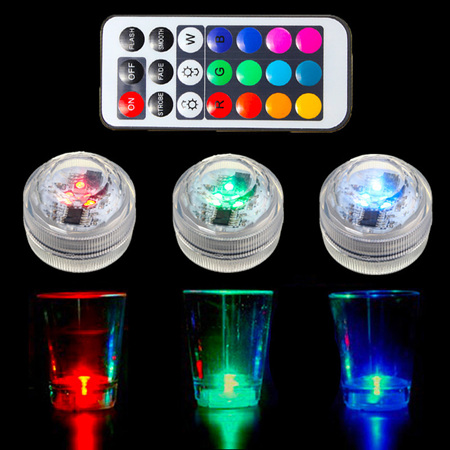 Back Order - 10pcs Submersible Waterproof Underwater LED Candle Tea Lights with Remote