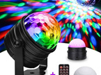 Back Order - 2 in 1 USB Sound Activated Disco Ball with Night Light Mode with Remote Control