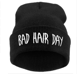 Bad Hair Day Unisex Beanie - BLACK