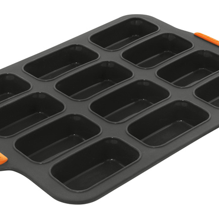 Bakemaster Silicone 12 Cup Mini Loaf