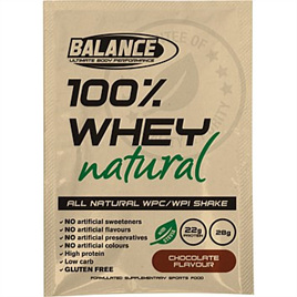 Balance 100% Whey Natural Sachets - Chocolate Single Serve