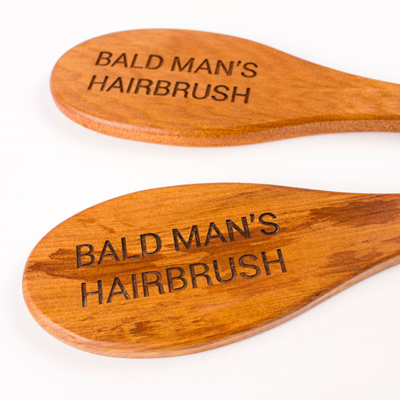 bald man's hairbrush - made from rimu or kauri - made in new zealand